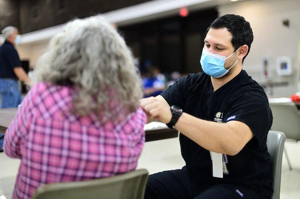 Male nursing student vaccines