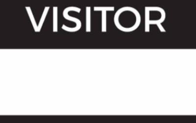 Visitor badge icon